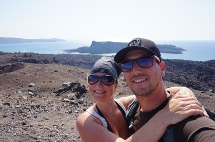 Île volcanique de Néa Kamini, Santorini, Grèce