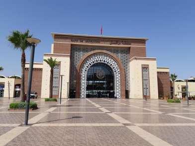 La belle Gare de Marrakech.