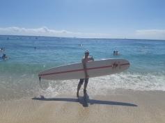 Surf à la Waikiki Beach
